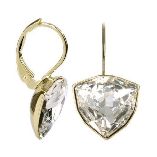 Troli Złote kolczyki trilliant crystal