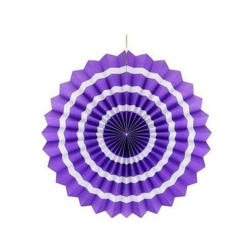 Dekoracja wisząca rozetka lawendowo - biała - 40 cm - 1 szt. marki Go