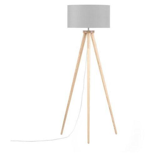 Beliani Lampa stojąca szara nitra