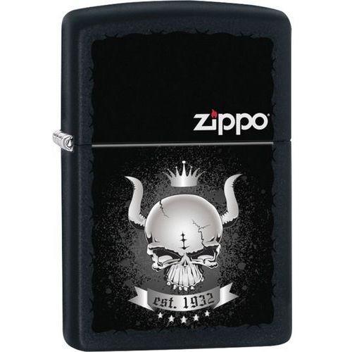 Zapalzapalniczka zippo skull crown classic, black matte (z26659) marki Zippo / usa