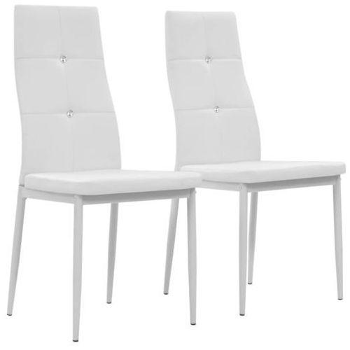 Krzesła ze sztucznej skóry, 2 szt., 43 x 43,5 x 96 cm, białe marki Vidaxl