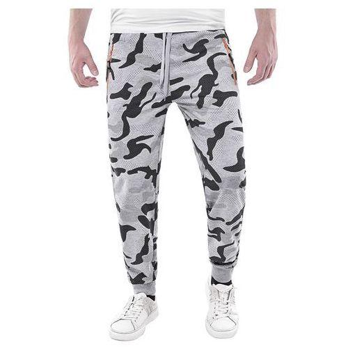 Wyprzedaż spodnie męskie dresowe nk738 - szare marki Risardi