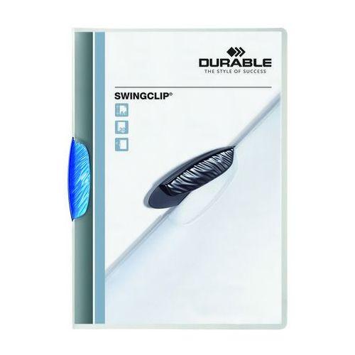Skoroszyt zaciskowy Durable SWINGCLIP niebieski A4/30k.