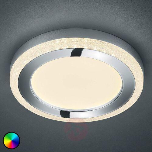 Reality Lampa sufitowa slide led biały, 1-punktowy, zdalne sterowanie, zmieniacz kolorów - nowoczesny - obszar wewnętrzny - slide - czas dostawy: od 3-6 dni roboczych (4017807407815)