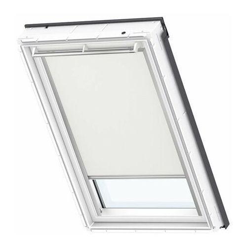 Roleta na okno dachowe VELUX manualna Standard DKL MK04 78x98 zaciemniająca beżowa (5702326748363)