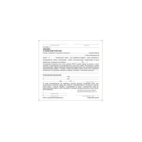 Wniosek o udzielenie pożyczki [Pu/2-31-3]