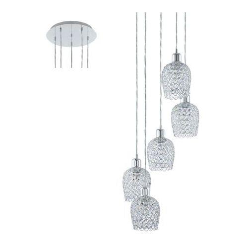 Eglo 94898 - żyrandol kryształowy bonares 1 5xe27/60w/230v