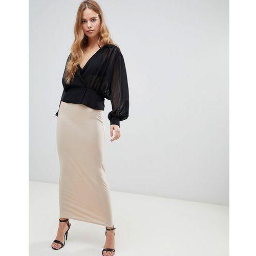 maxi skirt in nude - beige, Boohoo, 36-38