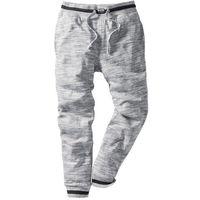 Spodnie sportowe melanżowe bonprix szary melanż