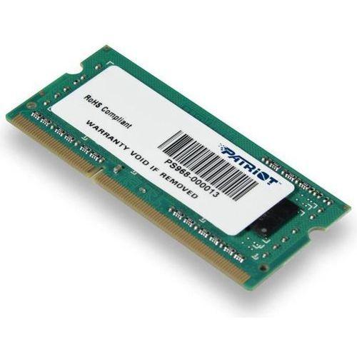 Patriot 4GB DDR3 1600MHz CL11 SODIMM PSD34G160082S - odbiór w 2000 punktach - Salony, Paczkomaty, Stacje Orlen