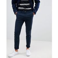 Burton Menswear skinny fit chinos in navy - Navy, kolor szary