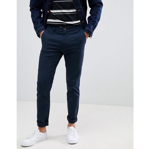skinny fit chinos in navy - navy marki Burton menswear