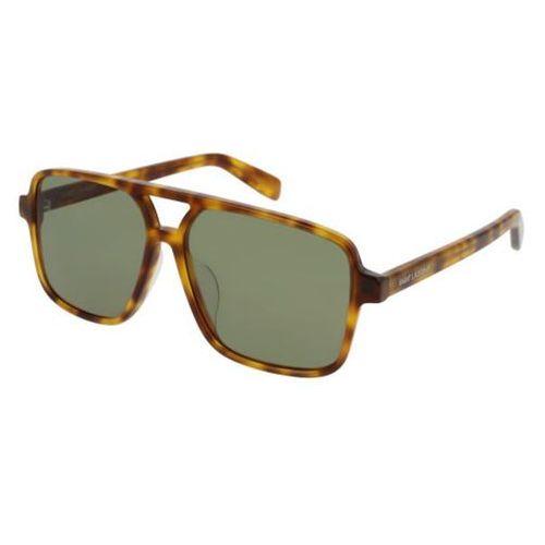 Okulary Słoneczne Saint Laurent SL 176/F Asian Fit 003, kolor żółty