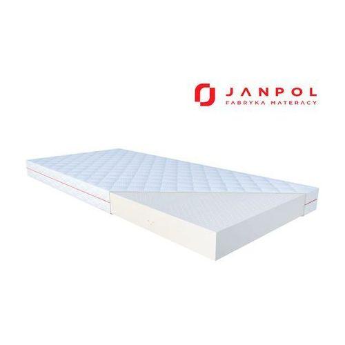 Janpol atena - materac lateksowy, piankowy, rozmiar - 140x200, pokrowiec - grey wyprzedaż, wysyłka gratis