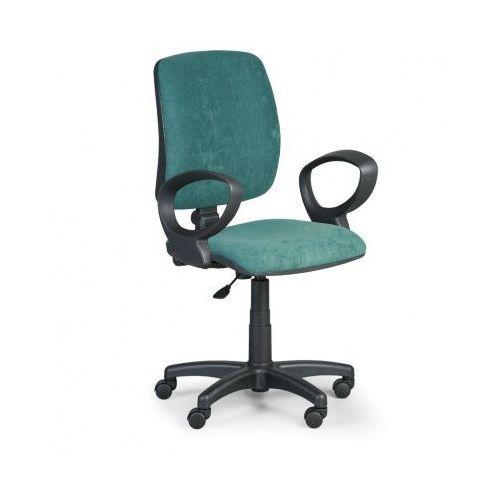 Krzesło biurowe TORINO II z podłokietnikami - zielone