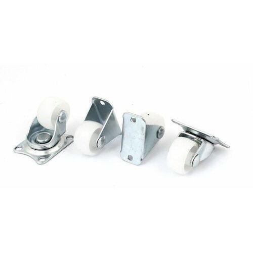 Zestaw kół fi 25 mm 2 szt. skrętne i 2 szt. stałe poliamid.