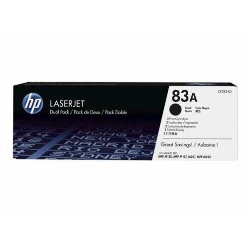 Toner oryginalny CF283AD 83A kompatybilny z HP LaserJet M201 M125 M127 M225 / 2x 1500 stron / Czarny / Dual Pack