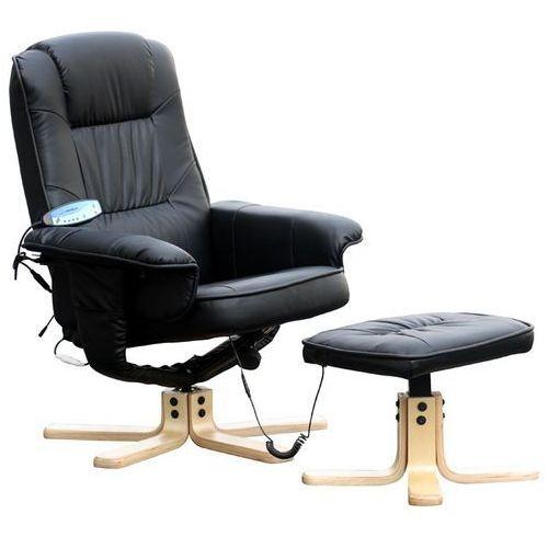 Regoline Fotel masujący wypoczynkowy z masażem + ogrzewanie - czarny