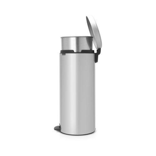 Brabantia  - kosz newicon - 30 l - metalowe wiadro i wolnoopadająca pokrywa - metaliczny szary - metaliczny szary