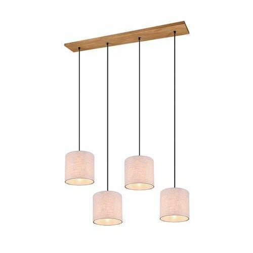 Trio Elmau 302100430 lampa wisząca zwis 4x60W E27 niklowa/biała (4017807451269)