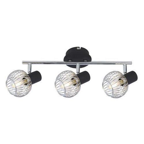 CANDELLUX OSLO 93-61850 Lampa punktowa 3x40W E14 czarny + chrom (5906714861850)