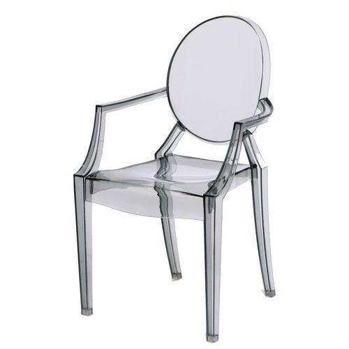 Krzesło dziecięce Royal Jr. transparentn y dymiony MODERN HOUSE bogata chata