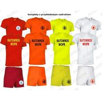 Komplet T-shirt koszulka oddychająca i spodenki RATOWNIK WOPR 6-8-wzrost-134-152cm bialy, kolor biały