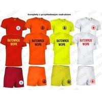 Komplet t-shirt koszulka oddychająca i spodenki ratownik wopr xs-10-12-wzrost-152-164 zolty-fluo marki Valento