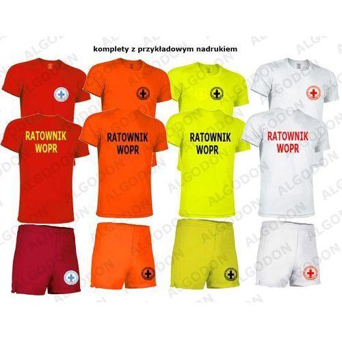 Komplet t-shirt koszulka oddychająca i spodenki ratownik wopr xxl pomaranczowy-fluo marki Valento