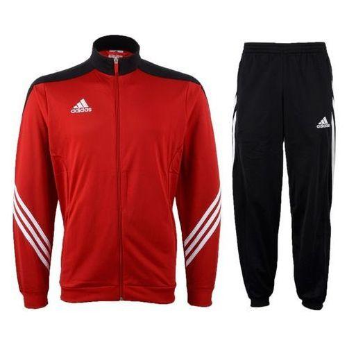 Dres juniorski Adidas Sereno 14 PES D82933 czerwono-czarny