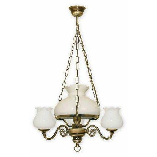 Lemir Alladyn lampa wisząca 4-punktowa klosz 010/w4