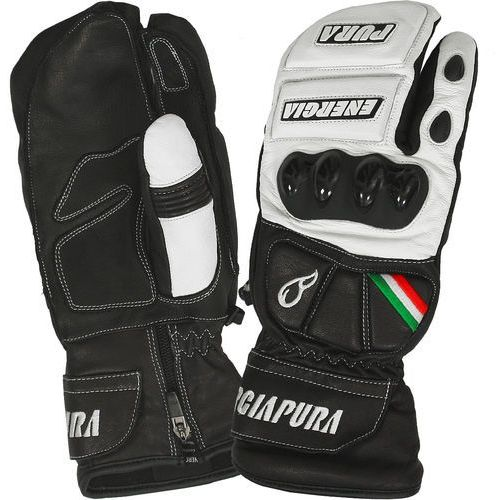Rękawice narciarskie Moffola 3 Fingers Bicolor Leather Gloves W/Prot Czarny/Biały 6.5