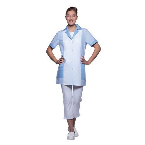 Tunika medyczna z krótkim rękawem, rozmiar 52, jasnoniebieska   KARLOWSKY, Penelope