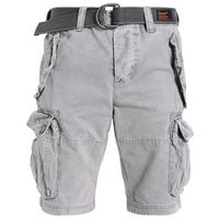 Superdry CORE CARGO HEAVY Szorty jeansowe mottled grey, bawełna