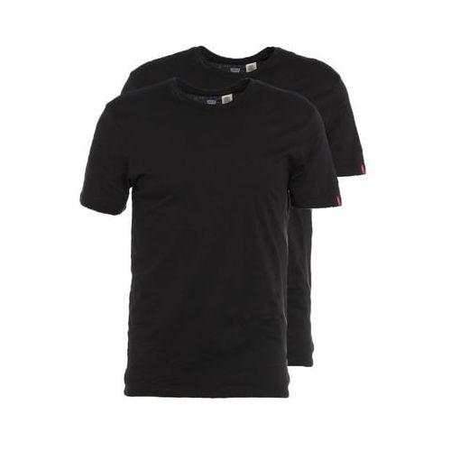 Levi's  men's slim 2 pack crew t-shirts - black/black - xl