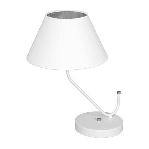Milagro victoria white mlp4919 lampka stołowa biurkowa 1x60w e27 biały mat / chrom (5902693749196)