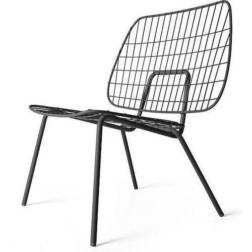 Krzesło WM String Lounge Chair czarne, kolor czarny