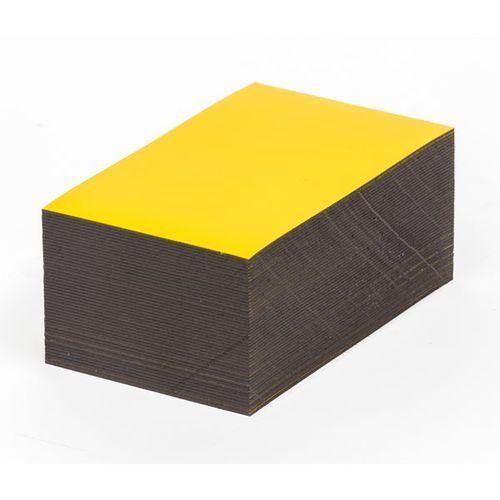 Haas Magnetyczna tablica magazynowa, żółte, wys. x szer. 30x100 mm, opak. 100 szt. za