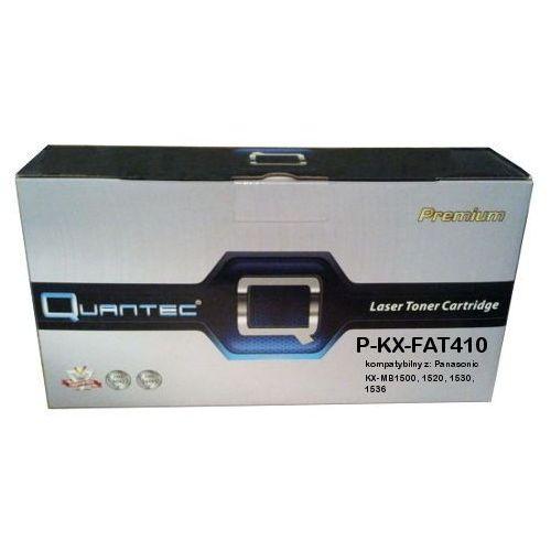 Zastępczy toner panasonic [kx-fat410x] black 100% nowy marki Quantec