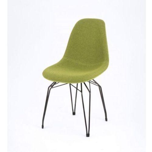 Kubikoff Krzesło DIAMOND BLACK or WHITE DIMPLE TAILORED wełna diamonddimpletailored-wool BLK/WHT, kolor biały