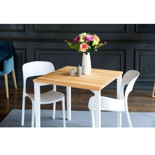 Stół z jesionowym blatem i kwadratowymi nogami triventi marki Ragaba