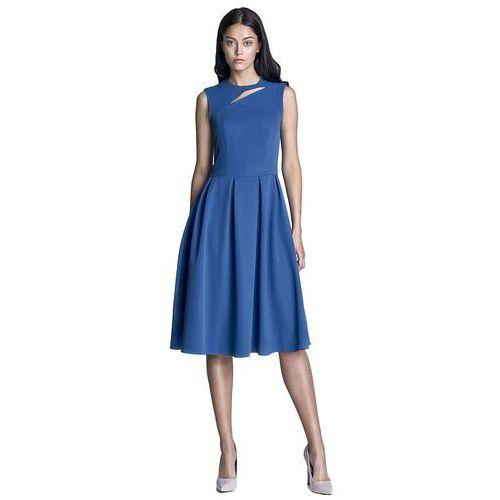 Sukienka midi - niebieski - S73