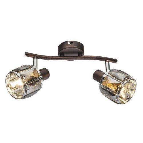 Globo Listwa indiana 54357-2 lampa sufitowa spot 2x40w e14 brązowy (9007371357277)
