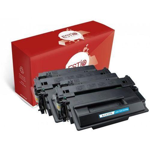 Dwupak tonerów do hewlett-packard (hp) laserjet p3015, 3015d, 3015dn, p3010, enterprise 500 mfp m525 ce255xd e-t55xd marki Estio
