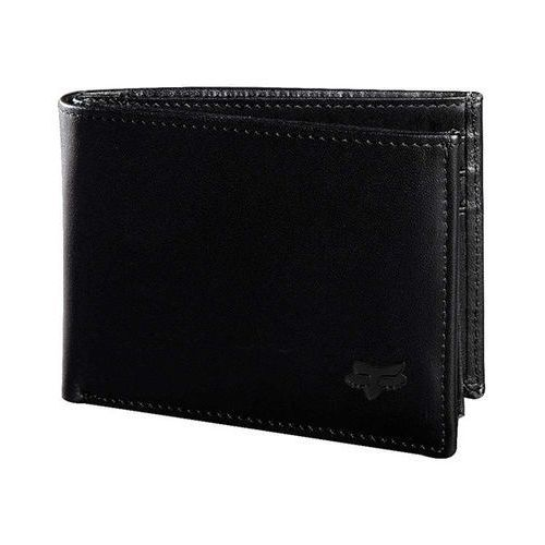 Fox Portfel - bifold leather wallet blk (001)