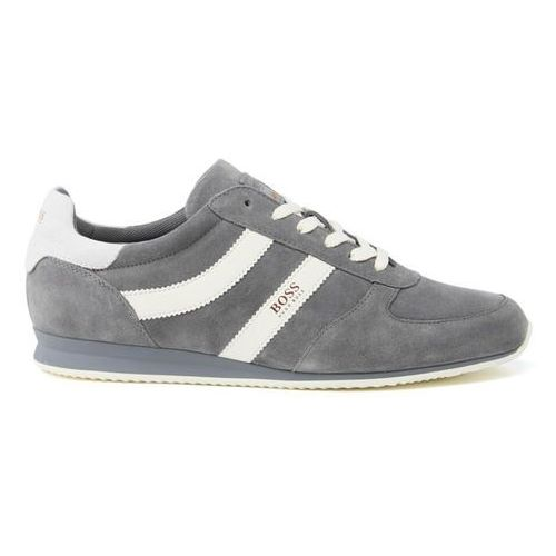 men's orland runn suede trainers - medium grey - uk 10 od producenta Boss orange