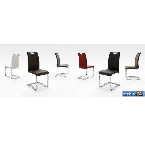 Krzesło chrom ekoskóra AURORA BIS - Różne Kolory, kolor Krzesło