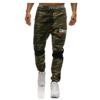 Spodnie męskie dresowe joggery multikolor Denley 3782B, kolor wielokolorowy