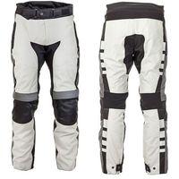 Motocyklowe spodnie avontur wodooporne, szaro-czarny, m marki W-tec
