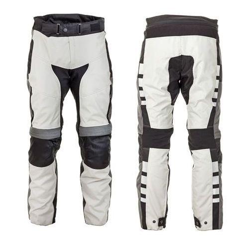 Motocyklowe spodnie W-TEC Avontur wodooporne, Szaro-czarny, 4XL